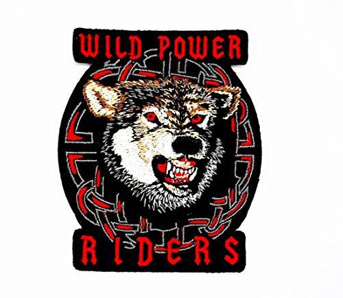 Dog Wild Animal Choppers Lady Biker Motorrad Patch für Heimwerker-Applikation Eisen auf Patch T Shirt Patch Sew Iron on gesticktes Badge Schild Kostüm (Fox Womens Kostüme)