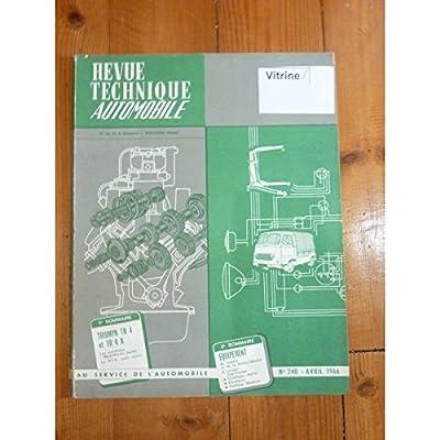RTA0240 - REVUE TECHNIQUE AUTOMOBILE TRIUMPH TR4 - TR4 A