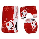 Tatis Zuhause Dekoration Weihnachtsdekoration Urlaub Hauptbild Druck WC-Set Roten Anzug Kissen/Teppich / Anti-Rutsch-dreiteilige Satz von 9 Arten Optional