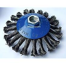 1 x Cono Cepillo gezopfter alambre de acero para amoladora angular (Diámetro ...