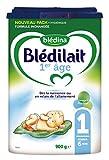 Blédina - Blédilait - Lait bébé 1er âge - 0 à 6 mois - Lot de 3x900 g