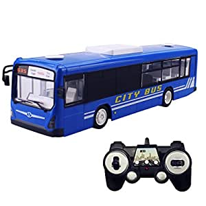 Hugine 6 Channel 2.4Ghz Remote Control Bus With Lights and Sounds (Blue)