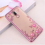 pour Huawei Nova 2i/Honor 9i Case Mate 10 Lite Placage TPU Silicone Glitter Cover Fundas for Honor 6A 6C Pro V9 Play Case Or Rose pour Honor 6C Or 6S for Honor 6X Rose Gold
