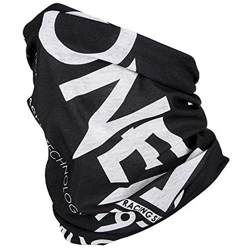 O'Neal Hals Tuch Motorrad Nacken Wärmer Schutz Fahrrad Schal Gesichtsschutz Maske Ski, 1024, Farbe Schwarz Weiß