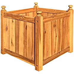 Macetero de madera, cuadrado, para jardín
