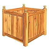 Hardwood Quadratischer Pflanzer, Holz, für Bäume und Blumen