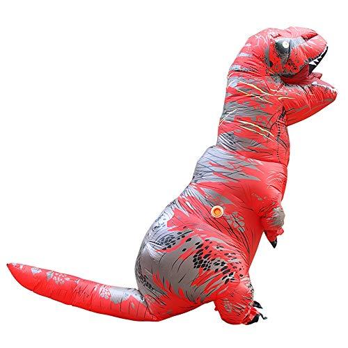 squarex Aufblasbares Erwachsenenkostüm mit Dinosaurier-Motiv, aufblasbar, T-Rex Trex Dinosaurier