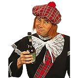Schottenmütze kariert mit Haaren Faschingsmütze Schotten Mütze Schotte Hut Schottenhut Fasnet Kostüm Zubehör Fasnacht