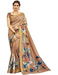 [Sponsored]Shangrila Designer Silk Saree With Blouse Piece (Kvms9-2494_Brown_Free Size)