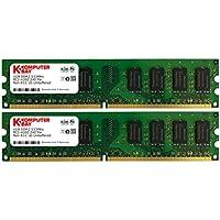 Komputerbay 2GB 2X 1GB DDR2 533MHz PC2-4200 PC2-4300 DDR2 533 240 pin DIMM Memoria Desktop