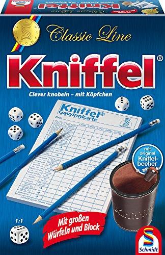 Schmidt Spiele 49203 Classic Line: Kniffel mit gr. Würfeln & Block