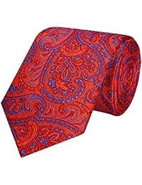 Tiekart Grey Paisley Micro Fiber Necktie for Men