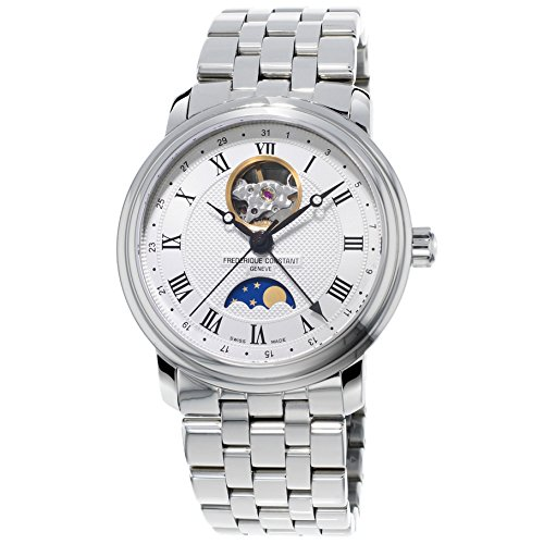 Frederique Constant Classics Moonphase FC-335MC4P6B2 40mm Automatic Stainless Steel Case Metal Anti-Reflective Sapphire Men's Watch