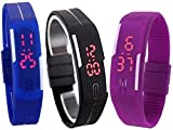 Best Digital Wristwatches - Set Of 3 LED Digital Wrist Watch For Review