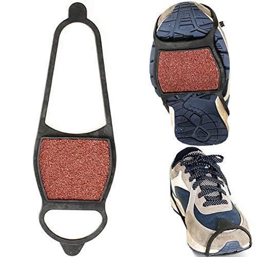 (AchidistviQ 1 para grobem Sand Winter Anti-Rutsch-EIS-Schnee-Schuhe Griffe Zugkraft Cleat Steigeisen Outdoor doppelseitig grob Slip Überschuh Urban Anti-Skid Klaue.)