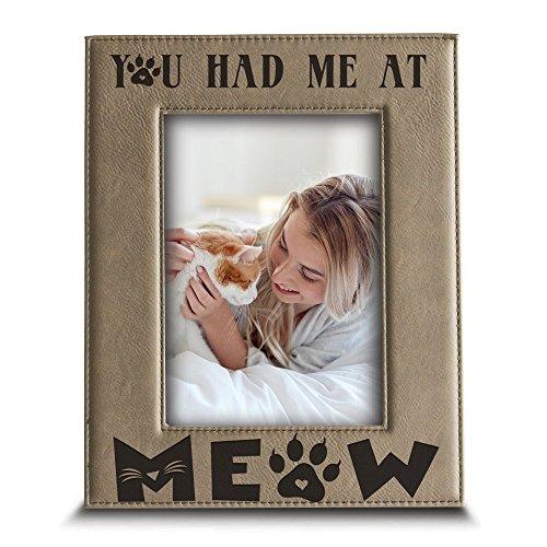 BELLA BUSTA You Had Me at Meow- Katze Frame-Pet Frame-Engraved Leder Bilderrahmen 5