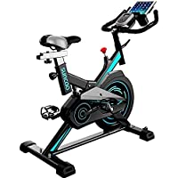 YUANSHOPPING Indoor cycling, aerobic training professional cycling, fitness bike racing machines, off-road experience, the emergency stop lever, adjustable resistance (Color : Blue)