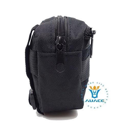 Multifunzione Survival Gear Pouches Molle Tactical, in campo militare Sundries, esterni, portatile, da viaggio, borse e borse per cintura per cellulare, MC BK