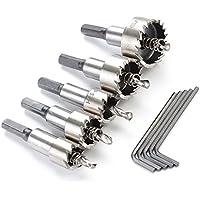 Idealeben HSS Drill Hole Saw 5pcs del metallo della lega in acciaio inossidabile Utensili foro (Il Foro Ha Veduto Per Acciaio Inossidabile)