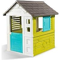 Smoby Casita Infantil Pretty II Verde, Azul y Gris (810710) Casa, Color