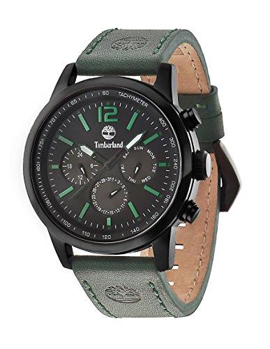Timberland Wingate-Orologio da uomo al quarzo con Display con cronografo e cinturino in pelle, %2F02 14475JSB, colore: