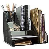#3: PINZO™ 8 Compartment Metal Mesh Desk Organizer