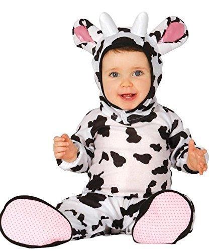 Fancy Me Baby Mädchen Junge Kuh Bauernhof Bauernhof Tier Buchabend Halloween Kostüm Outfit Verkleidung 6 - 24 Monate - 12-24 Monate