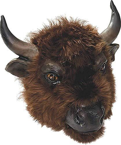 Erwachsene Latex Gummi Wildtiere Zoo Tier Maske Ausgefallen Party Kostüm Zubehör - Buffalo, One size