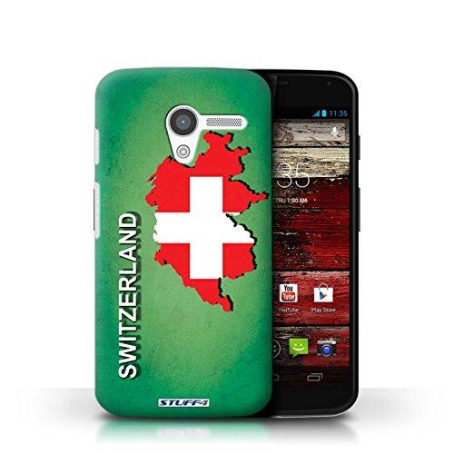 Kobalt® Imprimé Etui / Coque pour Motorola MOTO X / Afrique du Sud/Afrique conception / Série Drapeau Pays Suisse/Swiss