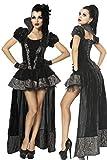 Costume de vampire l'Halloween carnaval Gothique DÉGUISEMENT SORCIÈRE Vampiresse, Couleur:Noir;Taille:S-M