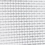 Grillage de toile moustiquaire à mailles fines en aluminium largeur 100 cm