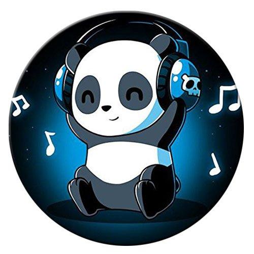 Pop Phone Grip ausziehbarer Ständer Multifunktionaler Smartphone-Halter Universal Telefon Finger hands Socket Halterung - Panda Musik Tier Farbe (Billig Ipod 3 Fällen)