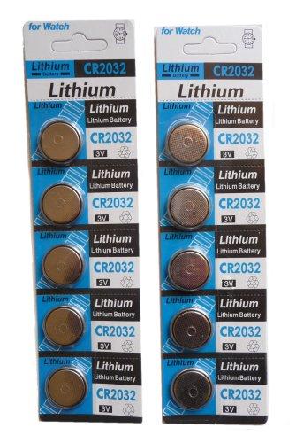 CAMELION Lot de 2 Packs Lot de 5 piles Lithium 3V CR2032