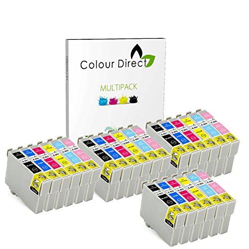 Colour direct 24 compatibile cartucce d'inchiostro sostituzione per epson stylus foto r265, r285, r360 , rx560, rx585, rx685, p50, px650, px660, px700w, px710w, px720wd, px730wd px800fw, px810fw, px820fwd stampante