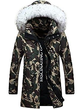 MHGAO Invierno Nuevo estilo de lana larga Padded Collar Capa Caliente , army green , s