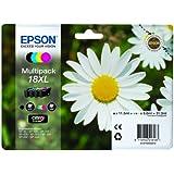 Epson C13T18164010 Confezione 4 Cartucce Inkjet A.R. Serie 18XL, Nero/Ciano/Magenta/Giallo