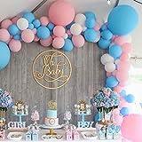 PuTwo Gender Reveal Party Luftballons 100 Stück Pastellblaue Luftballons Luftballons Pastell Rosa und Luftballons Weiß, Latexballons für Gender Reveal Party, Geschlecht Party, Boy or Girl Party, Taufe