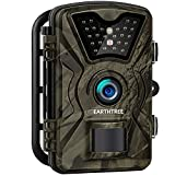 EARTHTREE Wildkamera,14MP 1080P Full HD Jagdkamera Low Glow Infrarot 20m Nachtsicht...