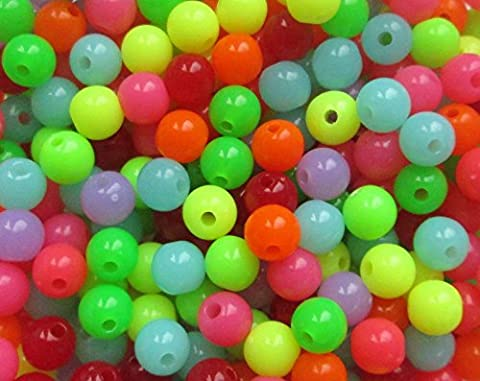 Sea Fishing Beads 6 and 8 mm Mixed/Individual Colours -100, 200 and 400 Bead Packs - 1st4Beads (TM) (Mixed (R517M), 8mm x