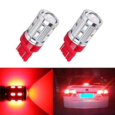 S&D 2 X 7443 7440 Car LED bulbs 12 SMD 5730 W21/5W 5W High power Cree XPE LED lamp Back Up Bulbs car light source parking