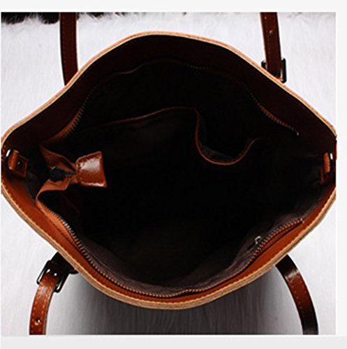 Keshi Leder Niedlich Damen Handtaschen, Hobo-Bags, Schultertaschen, Beutel, Beuteltaschen, Trend-Bags, Velours, Veloursleder, Wildleder, Tasche Braun