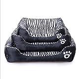 hame11 Prodotti per animali Modello zebra impermeabile Pet Waterloo Nido di gatto Letto per cani Teddy Cuccia per cuscini da divano (tre dimensioni sono opzionali), M