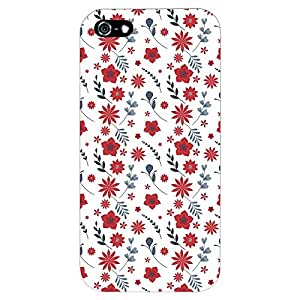 PrintVoo® Love Heart Pattern Printed Mobile Case for Apple iPhone 5 / 5S
