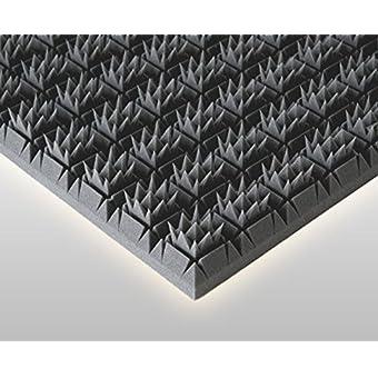 Königspyramide espuma para aislamiento acústico, 56 x 6 cm, color negro