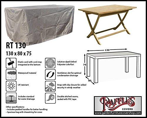 Raffles Covers RT130 Schutzhülle für rechteckige Gartentisch, 130 cm. Schutzhülle für...