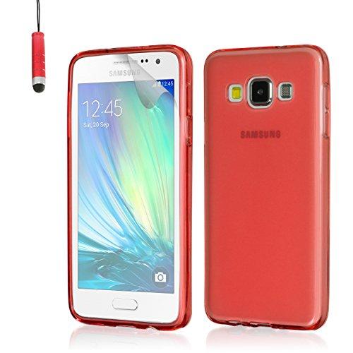 32nd Hülle Kristall Blau Ultradünn Silikon Gel Schutzhülle für Samsung Galaxy J1 SM-J100 - Rot