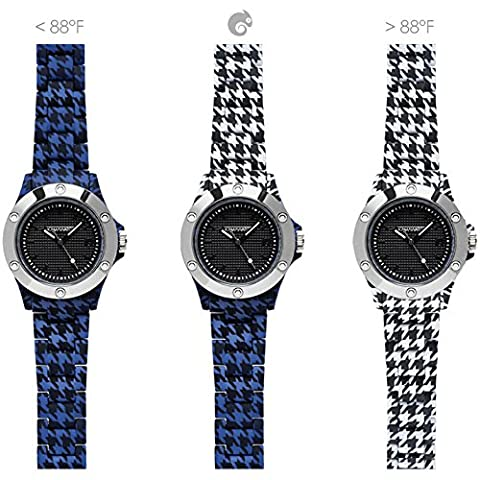 Clock Unisex kamawatch Houndstooth Print Collection Blue–Houndstooth Cod. KWP10