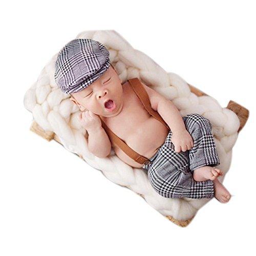Neugeborene Baby Fotografie Foto Stützen Junge Mädchen Kostüme Outfits Kleidung Niedlichen Cap & Strampler