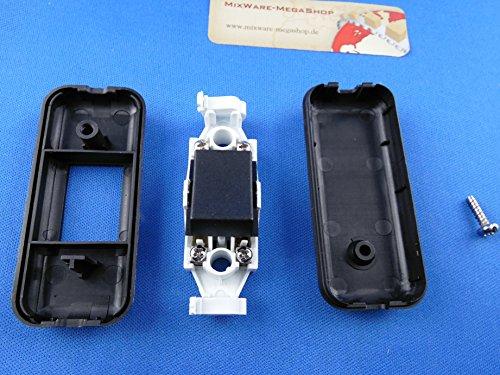 Schnur-Zwischenschalter Mit Schraubkontakten Schwarz, 2-polig, 2 A, 250 V~, Past für LED, SMD - 5