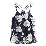 TOOGOO R XL Women S Summer Sexy Flowers Printed Short Camisole Vest Chiffon B